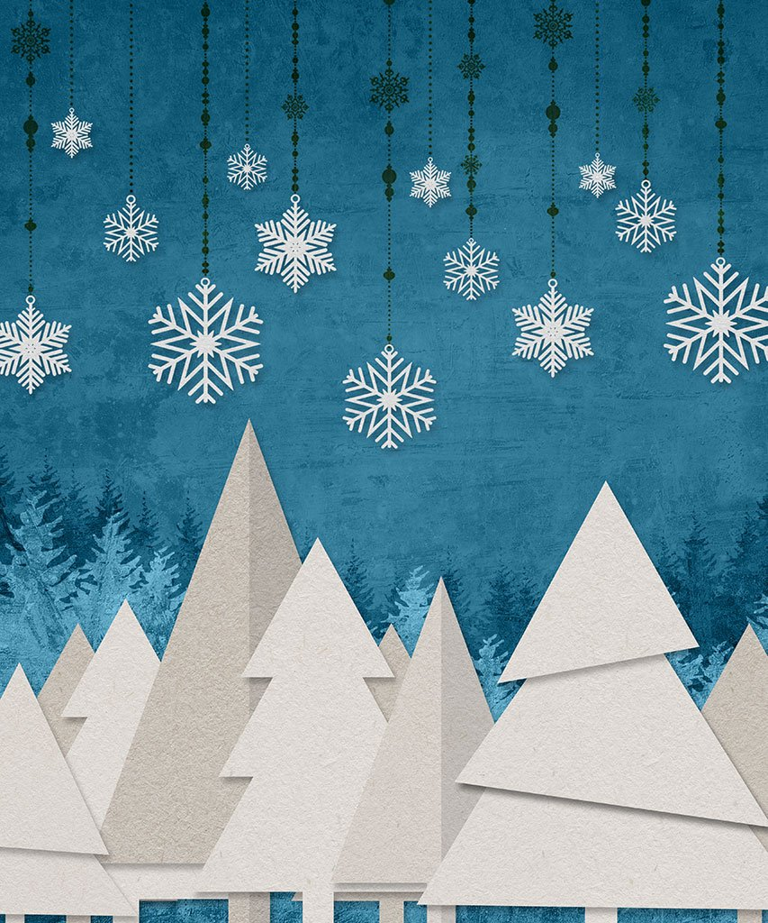 Backdrop Store paper Christmas trees