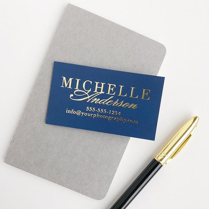 photographer business cards foil